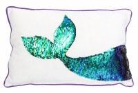 "10"" x 16"" Sequin Mermaid Tail Pillow"