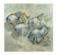 """36"""" Square Multicolored School of Rock Fish Canvas"""