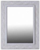 "36"" x 28"" Whitewash Wood Frame Mirror"
