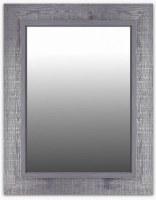 "36"" x 28"" Dark Gray Wood Frame Mirror"