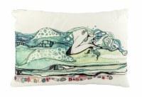 "13"" x 19"" Aqua Mermaid Napping Pillow"