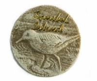"""1.75"""" Round Sanibel Sandpiper Magnet"""