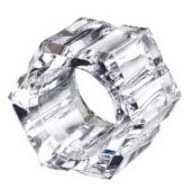 """3"""" Octogon Faceted Clear Acrylic Napkin Ring"""