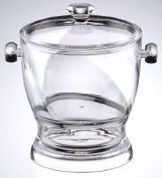 "8"" Clear Acrylic Twist Ice Bucket"