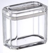 37 oz  Rectangle Clear Acrylic Faceted Canister