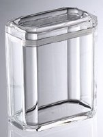 52 oz Rectangle Clear Acrylic Faceted Canister
