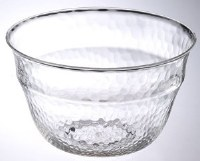 """11"""" Round Clear Acrylic Textured Salad Bowl"""