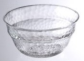 """6"""" Round Clear Acrylic Textured Serving Bowl"""