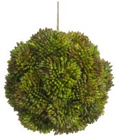 "4"" Faux Green Sedum Orb"