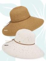 """5"""" Brim Toast Sequin Paper Braid Hat"""