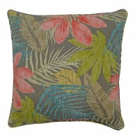 """17"""" Square Rose and Green Whistling Leaves Pillow"""