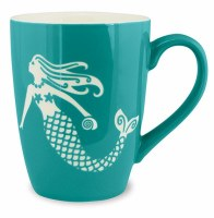 15 fl oz Etched Turquoise Mermaid Mug