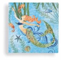"""5"""" Square Multicolored Mermaid Beverage Napkins"""