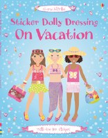 Sticker Dolly Dressing on Vacation Book