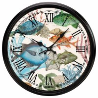 """12"""" Round Sea Life Wall Clock"""
