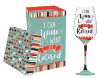 12 oz I'm Retired Wine Glass