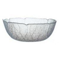 """9"""" Glass Aspen Leaf Bowl"""