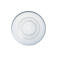 "7"" Round Glass Louison Plate"