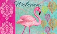 """18"""" x 30"""" Welcome Flamingo Doormat"""