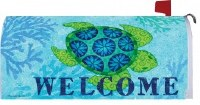 "20"" x 18"" Welcome Sea Turtle Mailbox Cover"