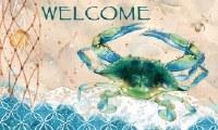 """18"""" x 30"""" Welcome Blue Crab Doormat"""