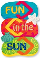 "18"" x 12"" Mini Fun Sun Flip Flop Flag"