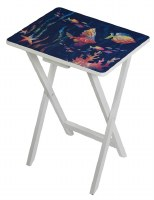 """20"""" x 26"""" Fish on Blue Foldable TV Tray Table"""