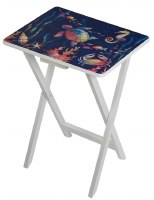 """20"""" x 26"""" Turtle on Blue Foldable TV Tray Table"""