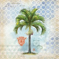 "6"" Square Royal Palm Luncheon Napkins"