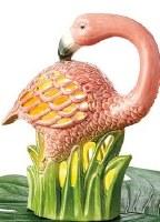"""10"""" Ceramic LED Flamingo Lantern"""