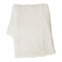 "50"" x 60"" White Crochet Throw"