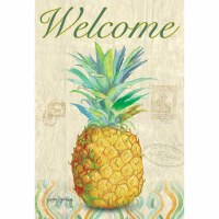 "18"" x 13"" Mini Welcome Pineapple Flag"