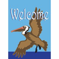 "18"" x 13"" Mini Pelican Welcome Flag"