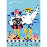 """18"""" x 13"""" Mini Snowbirds Rock Flag"""