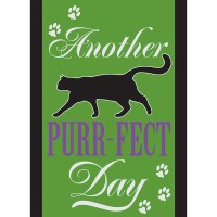 """18"""" x 13"""" Mini Another Purr-fect Day Flag"""