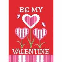 "18"" x 13"" Mini Be My Valentine Garden Flag"
