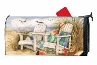 """20"""" x 18"""" Time to Relax at the Beach Mailbox Cover"""