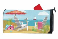 """20"""" x 18"""" Better at the Beach Mailbox Cover"""