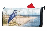 """20"""" x 18"""" Blue Heron Love the View Mailbox Cover"""
