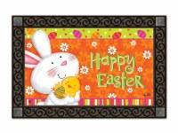 """18"""" x 30"""" Happy Easter Bunny Love Doormat"""