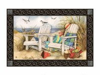 """18"""" x 30"""" Time to Relax on the Beach Doormat"""