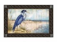 """18"""" x 30"""" Blue Heron Love the View Doormat"""
