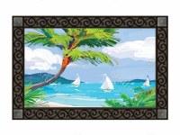 "18"" x 30"" Tropical Palm Tree Doormat"