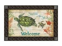 """18"""" x 30"""" Swim in the Sea Welcome Doormat"""