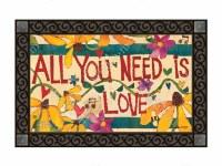 "18"" x 30"" All You Need Is Love Doormat"