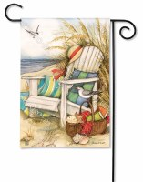 """18"""" x 12"""" Mini Time to Relax on the Beach Flag"""