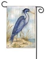 """18"""" x 12"""" Mini Blue Heron Love the View Flag"""