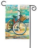 "18"" x 12"" Mini Bike Ride Along the Coast Flag"