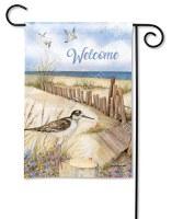 "18"" x 12"" Mini Welcome Down to the Beach Flag"