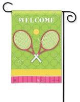 "18"" x 12"" Mini Time For Tennis Welcome Flag"